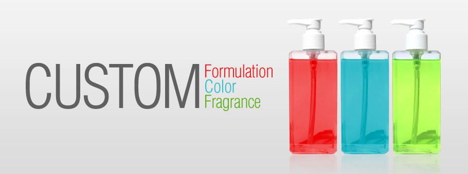 Custom Formulation, Color, and Fragrance